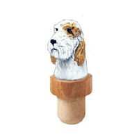 Petit Basset Griffon Vendeen Head Cork Bottle Stopper
