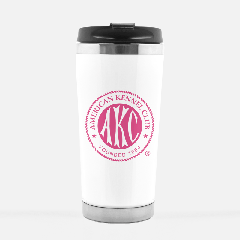 AKC Breast Cancer Awareness Logo Travel Mug