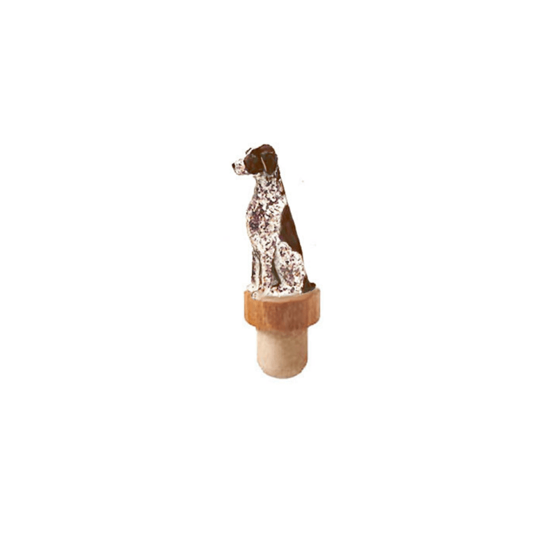 German Shorthaired Pointer Figurine Cork Bottle Stopper