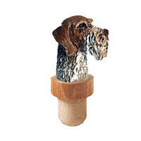 German Wirehaired Pointer Head Cork Bottle Stopper