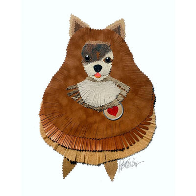 Reed Evins Pomeranian Dog Collage