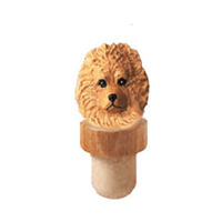 Pomeranian Head Cork Bottle Stopper