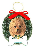 Pomeranian Wreath and Bone Ornament