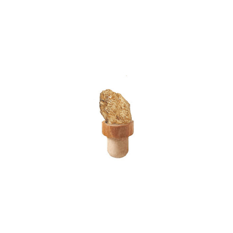 Pomeranian Figurine Cork Bottle Stopper