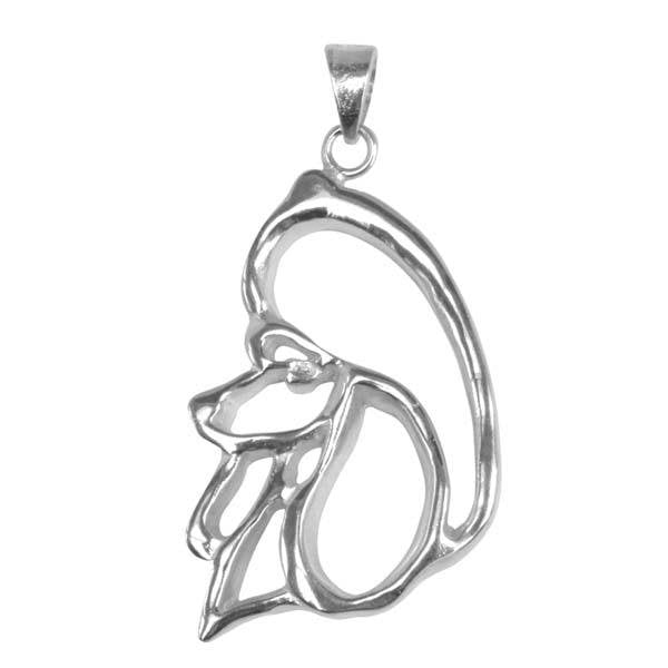 Poodle Sterling Silver Cut Out Pendants