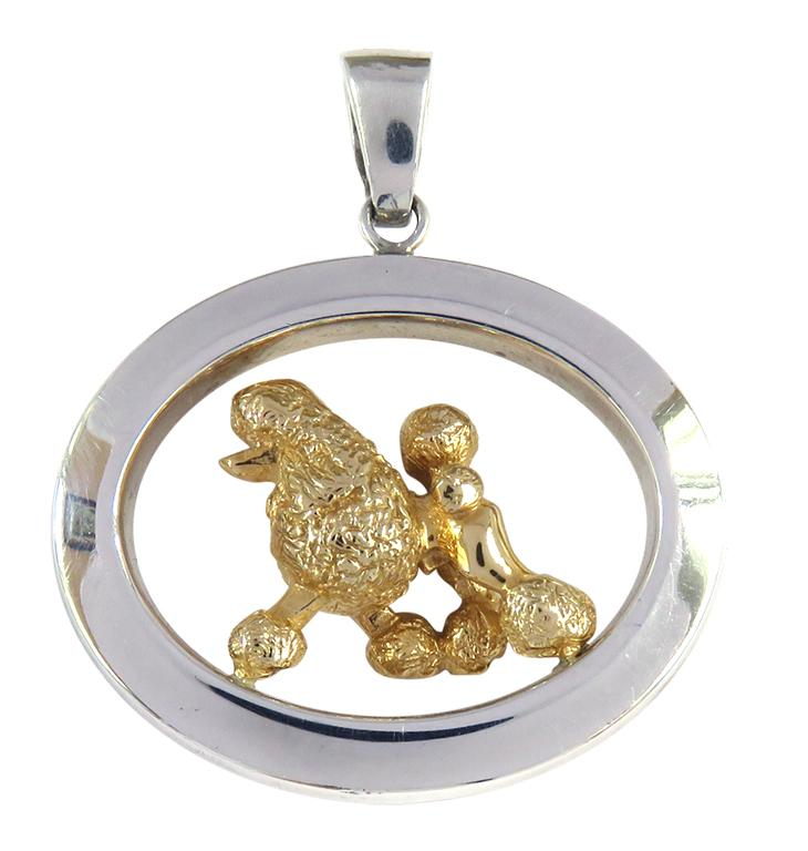 Poodle Sterling & 14k Gold Jewelry