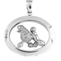 Poodle Wide Oval Jewelry