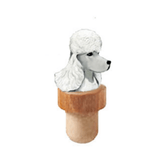 Poodle Head Cork Bottle Stopper