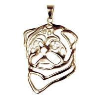 Pug 14K Gold Cut Out Pendant