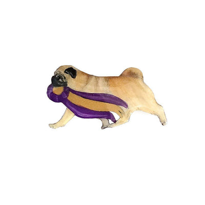 Hand-Painted Pug Pin