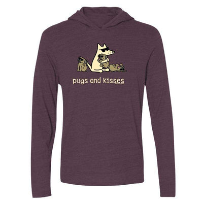 Pugs And Kisses - Long-Sleeve Hoodie T-Shirt