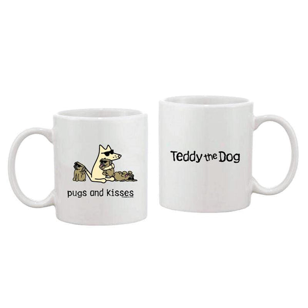Pugs And Kisses - Coffee Mug