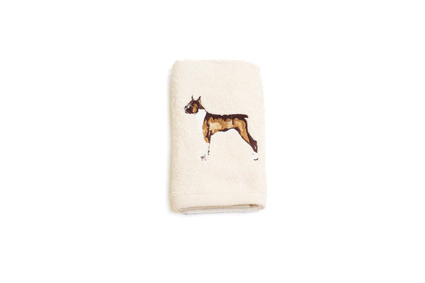 Embroidered Boxer Hand Towel