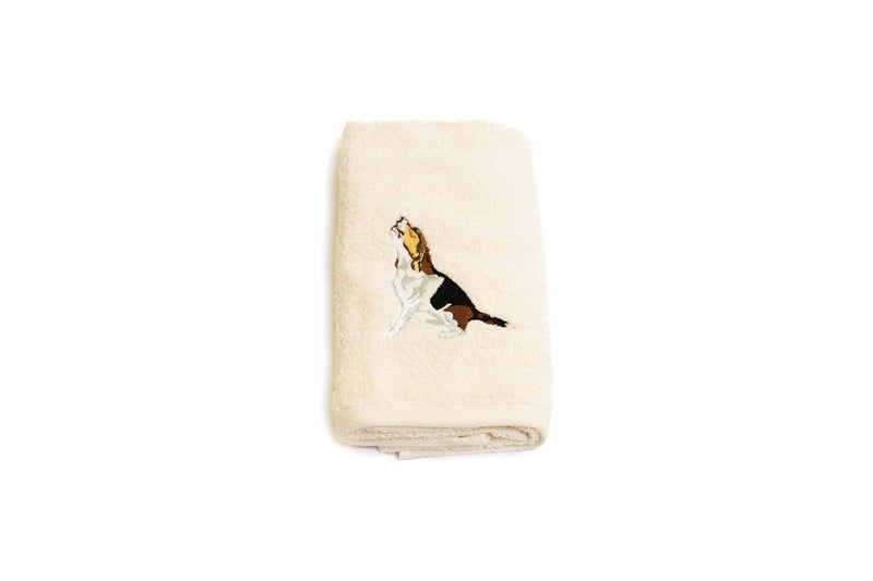 Embroidered Beagle Hand Towel