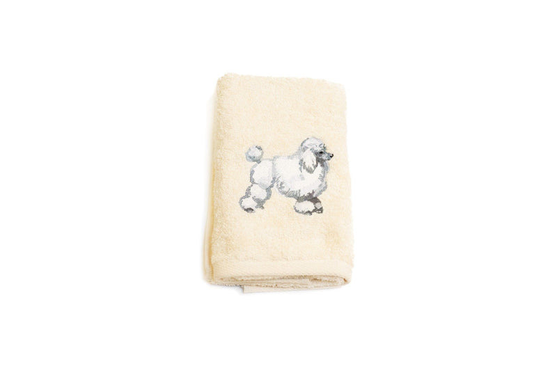Embroidered Poodle Hand Towel