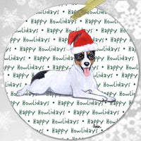 "Rat Terrier ""Happy Howlidays"" Ornament"