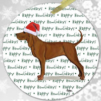 "Redbone Coonhound ""Happy Howlidays"" Ornament"