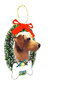 Rhodesian Ridgeback Wreath and Bone Ornament