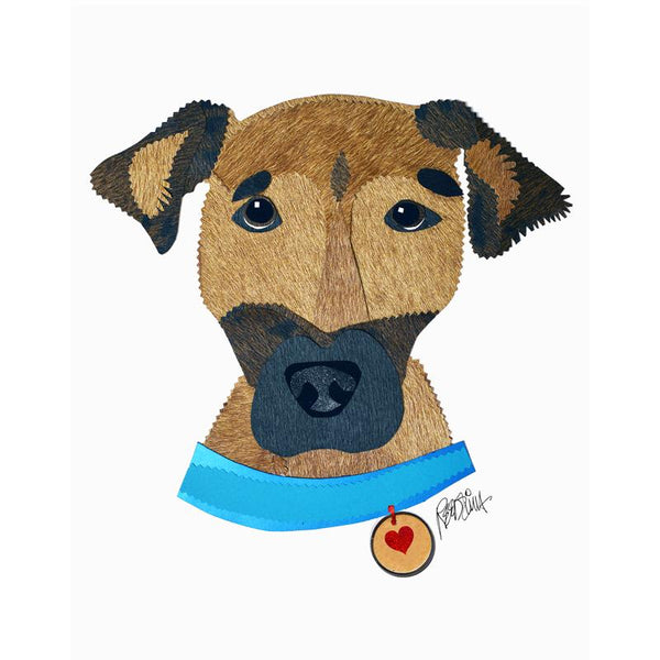 Reed Evins Rhodesian Ridgeback Dog Collage