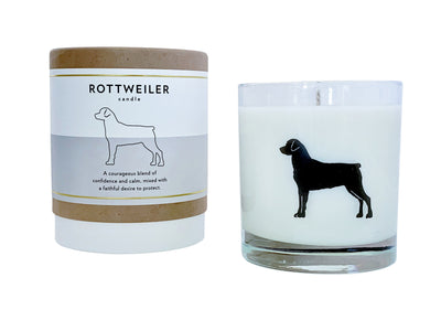 Rottweiler Candle
