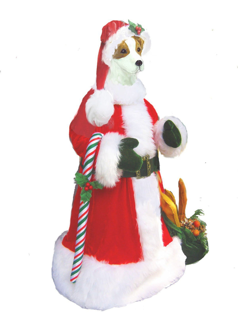 Russell Terrier Large Santa Statue