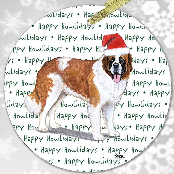 "Saint Bernard ""Happy Howlidays"" Ornament"