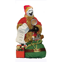 Samoyed Toy List Santa Statue