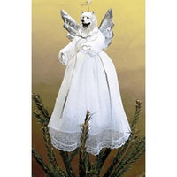 Samoyed Treetop Angel