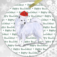 "Samoyed ""Happy Howlidays"" Ornament"