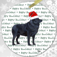 "Schipperke ""Happy Howlidays"" Ornament"