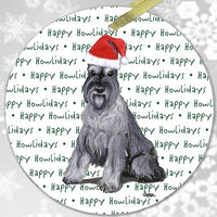 "Schnauzer ""Happy Howlidays"" Ornament"