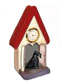 Scottish Terrier Figurine Clock
