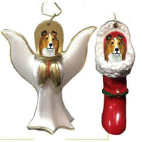 Shetland Sheepdog Ornament Set