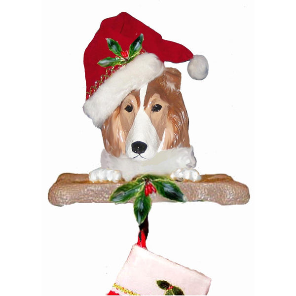 Shetland Sheepdog Santa Stocking Holder