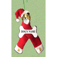 Shetland Sheepdog Santa Bone Ornament