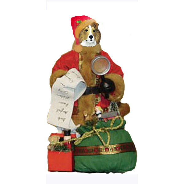 Shetland Sheepdog Toy List Santa Statue