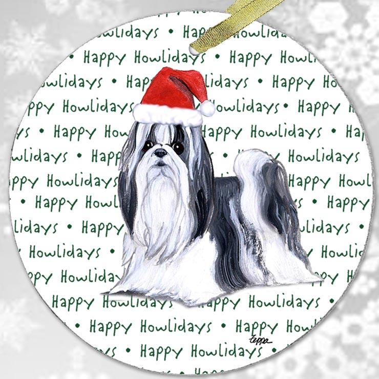 "Shih Tzu ""Happy Howlidays"" Ornament"