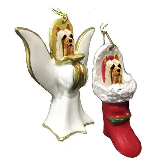 Silky Terrier Ornament Set