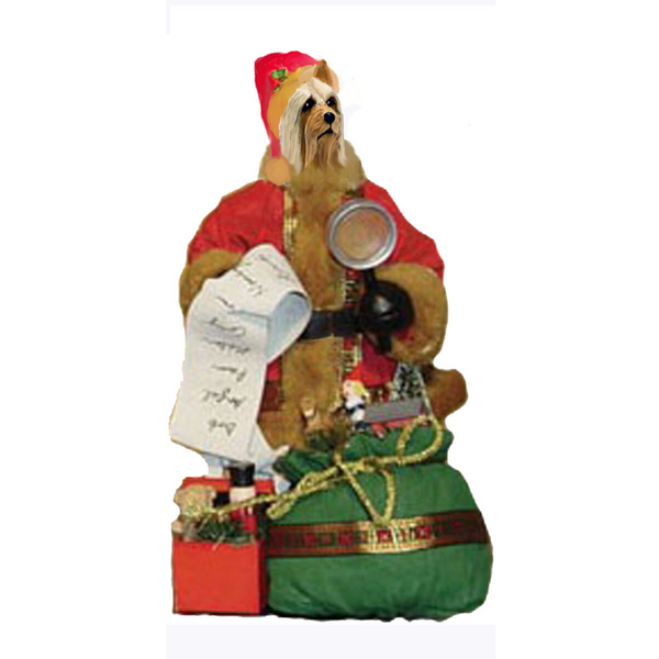 Silky Terrier Toy List Santa Statue