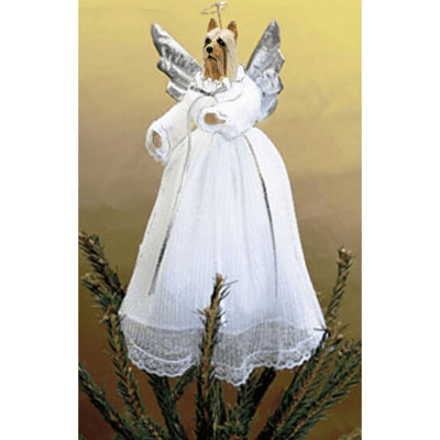 Silky Terrier Treetop Angel