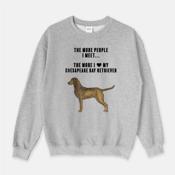 Chesapeake Bay Retriever Love Unisex Crew Neck Sweatshirt