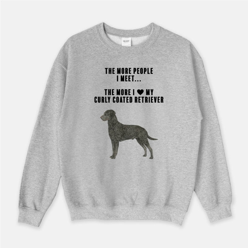 Curly Coated Retriever Love Unisex Crew Neck Sweatshirt