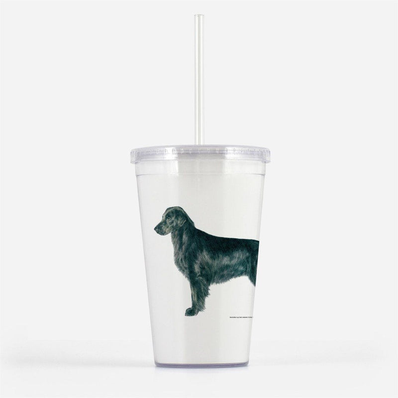 Flat-Coated Retriever Beverage Tumbler
