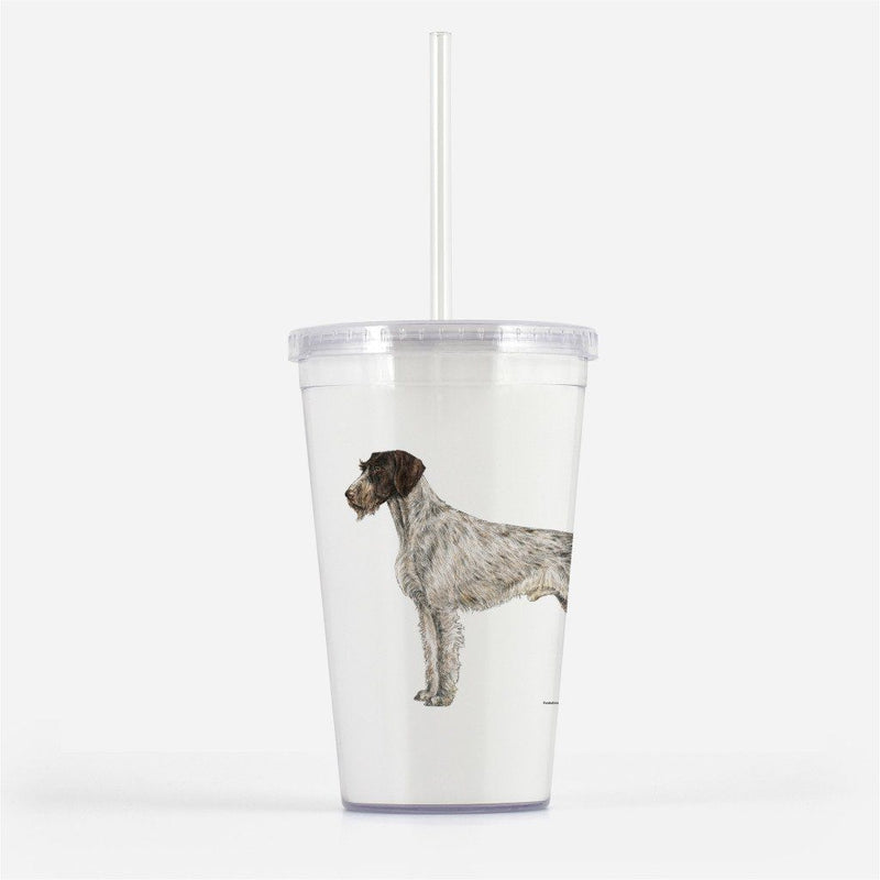German Wirehaired Pointer Beverage Tumbler