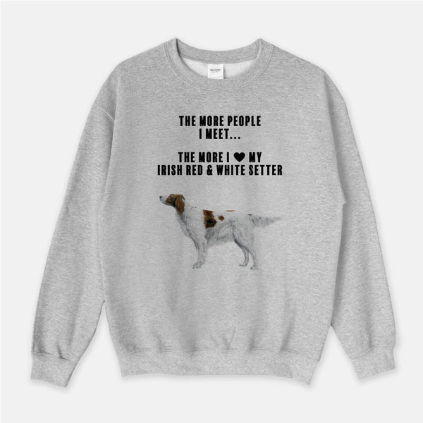 Irish Red and White Setter Love Unisex Crew Neck Sweatshirt