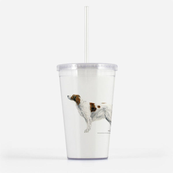 Red and White Irish Setter Beverage Tumbler