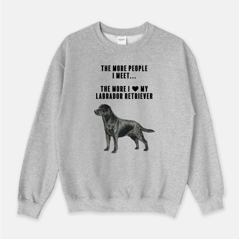 Labrador Retriever Love Unisex Crew Neck Sweatshirt