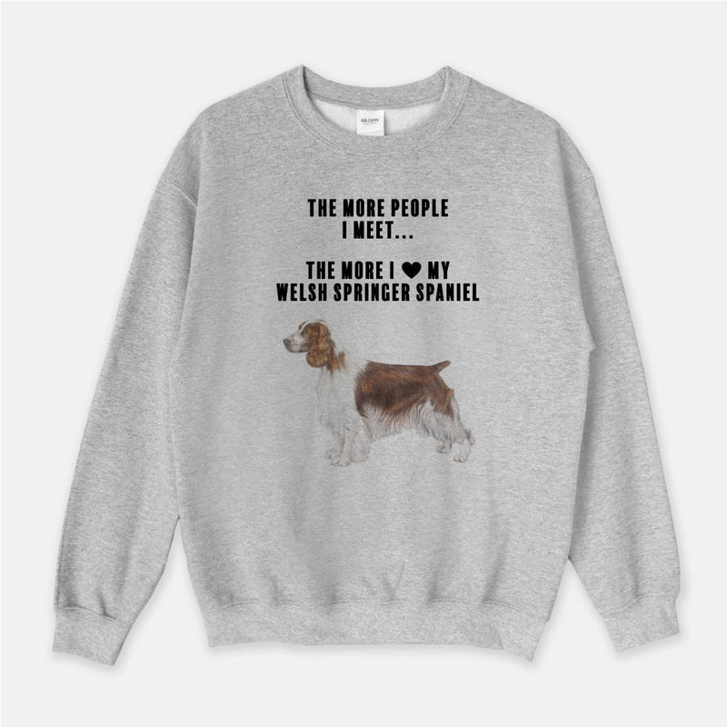 Welsh Springer Spaniel Love Unisex Crew Neck Sweatshirt