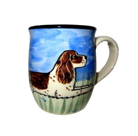 English Springer Spaniel Hand-Painted Ceramic Mug