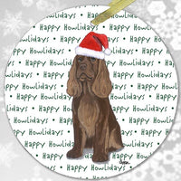 "Sussex Spaniel ""Happy Howlidays"" Ornament"